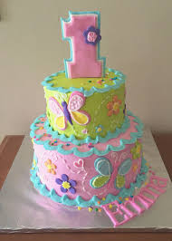 1st Birthday Cake For A Girl Cakes Kindertorte Kinder Torten