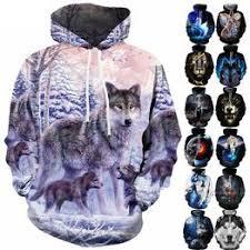 animal wolf Full Print 3d Hoodies Mens/women Pullover ... - Vova