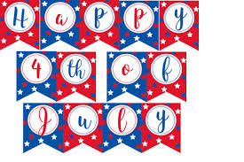 Free Printable Banners Free Printable 4th Of July Banner Violet Paper Designs
