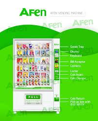 Vending Machine Coin Return Beauteous AFEN Fruit And Salad Vending MachineHUNAN AFEN VENDING MACHINE COLTD