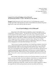 the constitutional challenge unit essay ameera m watley  4 pages era of good feelings or era of discord