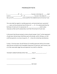 Legal Promissory Note Template Promissory Note Templates