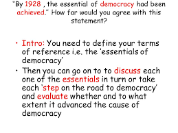 growth of democracy essays what progress did britain make towards  3 intro