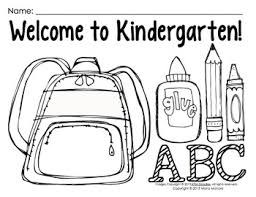 Get hundreds of free kindergarten worksheets that are designed to fit into a standard. Coloring Pages For Back To School Pre K 1 Classrooms By Maria Gavin