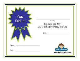 potty training resources potty training concepts potty scotty potty training certificate i