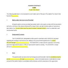 Basic Service Contract Template Vendor Agreement Free Word Documents ...