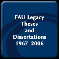 fau electronic theses and dissertations fau digital flvc org legacy fau student theses and dissertations 1967 2006