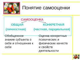 Презентация Формирование самооценки у младших школьников  Понятие самооценки САМООЦЕНКА ОБЩАЯ КОНКРЕТНАЯ личностная частная пар