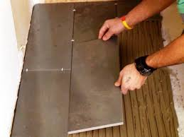 how to lay floor tiles on concrete