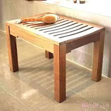 wooden garden stool outdoor