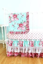 shabby chic crib bedding primrose garden accessories for shabby chic aqua and pink crib bedding set