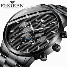 <b>FNGEEN</b> New <b>Top Brand Luxury</b> Watches Men Fashion Trend Steel ...