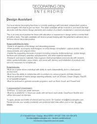 Interior Decorator Resume Resume Examples Creative Design Author