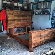 Diy king size beds Unique Reestablished Pallet Bed Frame 99 Pallets Diy King Size Pallet Bed Frame