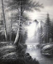 yessy paintings prints landscapes nature waterfalls