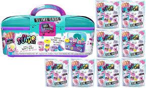 so slime diy slime combo 3 playset slime case storage kit 8x mystery packs com