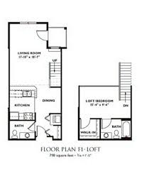 1 Bedroom Floor Plan   Plan F1 ...