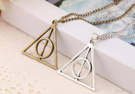 whole harry book the ly hallows necklace triangle antique silver bronze gold ly hallows pendants fashion jewelry best ing small pendant