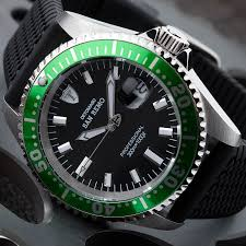 detomaso san remo mens diving watch 300 m green automatic detomaso san remo mens diving watch 300 m green automatic silicone new