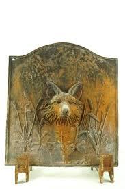 gas fireplace heat reflectors reflector shield home depot good part antique cast iron fox