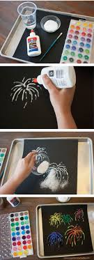 Salt Painting - This is such a cool project! I love that it only uses