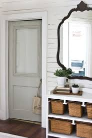 bathroom door with frosted glass from the lettered cottage