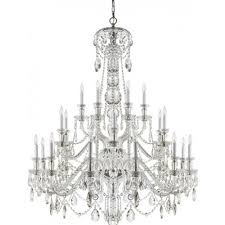visual comfort rl5010cg ralph lauren daniela twenty four light chandelier in crystal