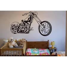 chopper motorbike wall decal boys bedroom wall art sticker wall graphics  on motorbike metal wall art uk with chopper super motorbike wall decal for boy bedroom wall art sticker