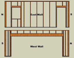 picture of framing and assembling the walls