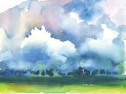 image result for sunset clouds kansas watercolor