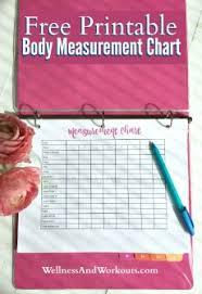 Free Printable Body Measurement Chart Body Measurement Tracker