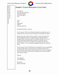 Job Letter Sample Awesome Relocation Cover Letter Examples For In