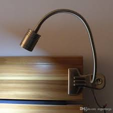 2018 metal made clip on led table light desk lamp for bedside working illuimination 3w cree led 200lm ac100 240v north american standard plug from