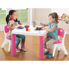step2 lifestyle kids table and 2 chairs set multiple colors com