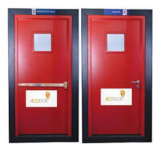 powder coated painted fire door with view panel size dimension 1200 x