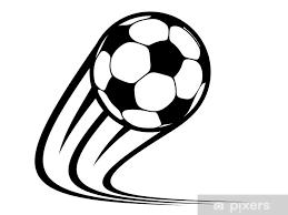 Nálepka Na Skříň Zvětšení Fotbalový Míč Letí Vzduchem