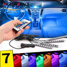 philippines iflashdeal car led strip light 4 pcs 36 led remote control multi color car interior