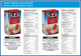quaker regular instant oatmeal