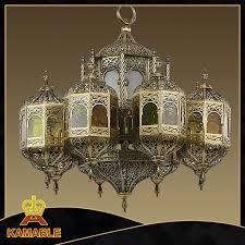 hotel arabic style brass chandelier 009