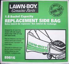 lawn boy parts ebay Lawn Boy Re12e Engine Start Wiring Diagram lawn boy replacement side bag part 89816 new