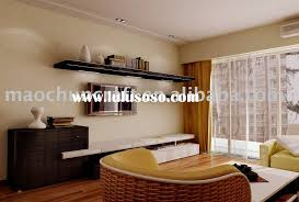 Floating Shelves Around Tv Living Roomsimple Living Room Wooden Open Shelf Around Tv Wall
