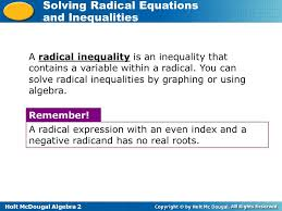 solving radical equations and inequalities quizlet tessshlo