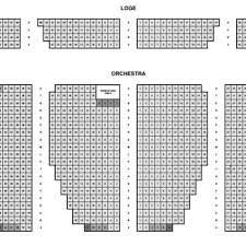 Seating Chart Loge And Orchestra Yelp