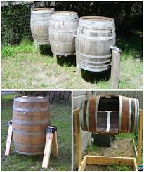 diy wine barrel compost bin instruction 12 simple diy compost bin projects