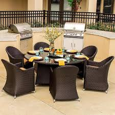 great round patio dining sets for 6 perfect outdoor dining sets for 6 hampton bay corranade