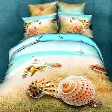 marine bedding set sea beach shell bedding sets cotton blue marine organism quilt cover set marine marine bedding set
