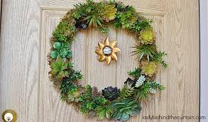 front door wreathDIY Artificial Succulent Front Door Wreath