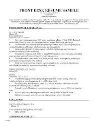 Desk Clerk Resumes Front Desk Hotel Job Description Comprarcelular Info
