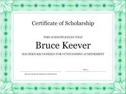 Official Certificate Template Certificate Of Scholarship Formal