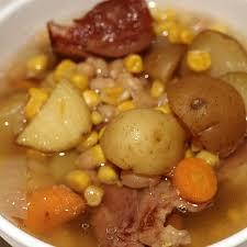 crock pot ham and bean soup recipe